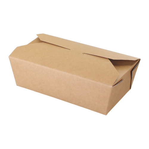 01OR2MK 985ml Kraft Microwaveable Multi-Food Box