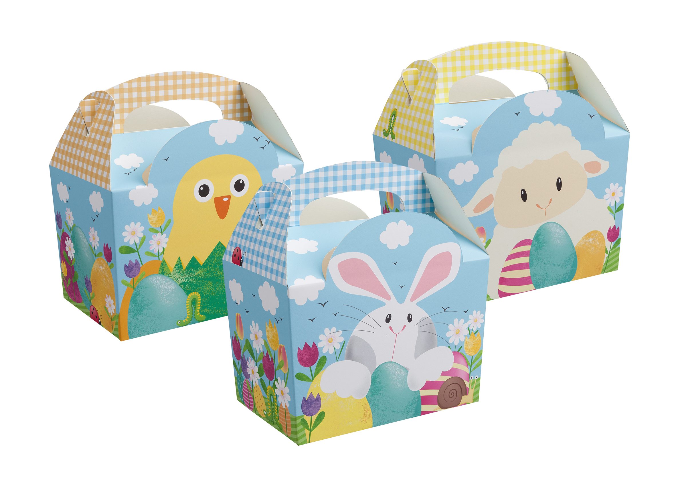 Easter Paperboard Box With Handle Colpac Ltd