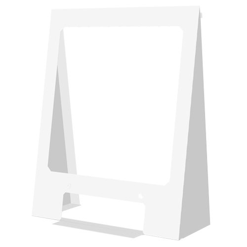 White Free Standing Counter Shield